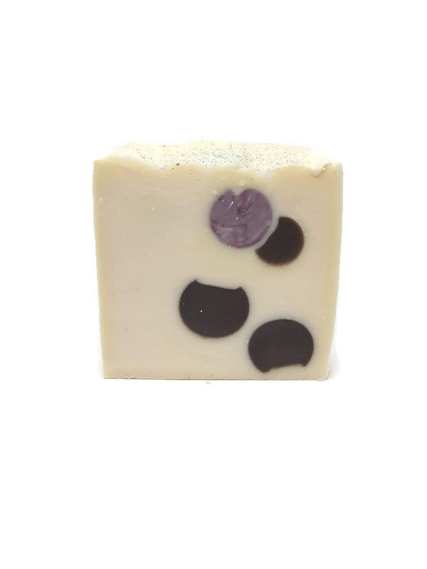 sea salt and Orchid fragranced soap with marble looking embeds