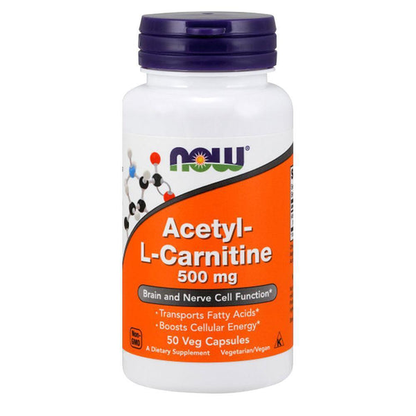 NOW Foods Carnitine Acetyl L-Carnitine 500mg [50 Caps]