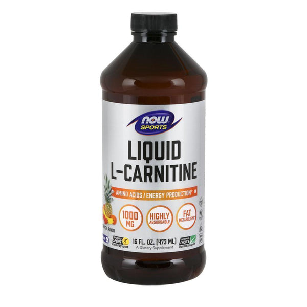 NOW Foods Carnitine Tropical Punch NOW Foods Sports Liquid L Carnitine [473ml]