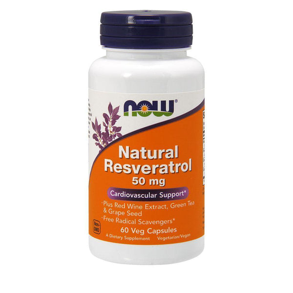 NOW Foods General Health Natural Resveratrol 50mg [60 Caps]