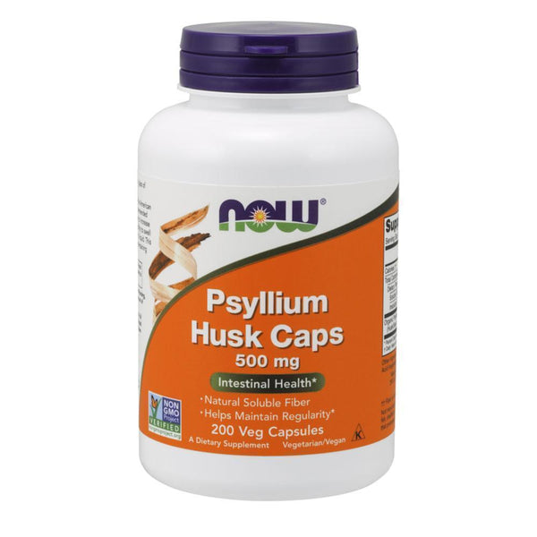 NOW Foods General Health Psyllium Husk Caps 500mg [200 Caps]