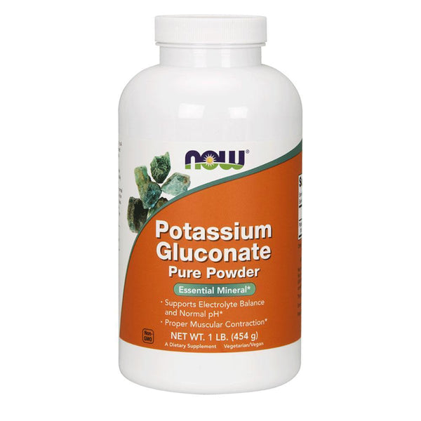 NOW Foods General Health Unflavoured NOW Foods Potassium Gluconate [454g]
