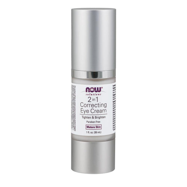 NOW Foods Health & Beauty Solutions 2 In 1 Eye Cream [30ml]
