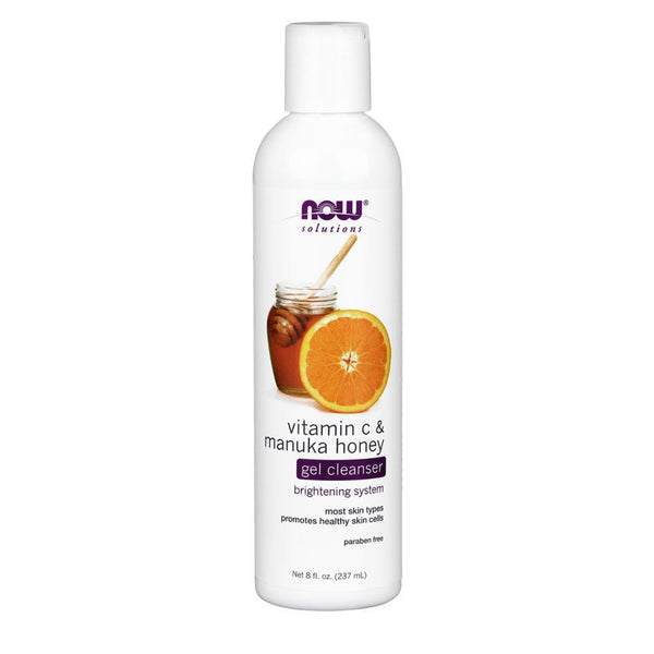 NOW Foods Health & Beauty Vitamin C & Manuka Honey Cleanser [237ml]