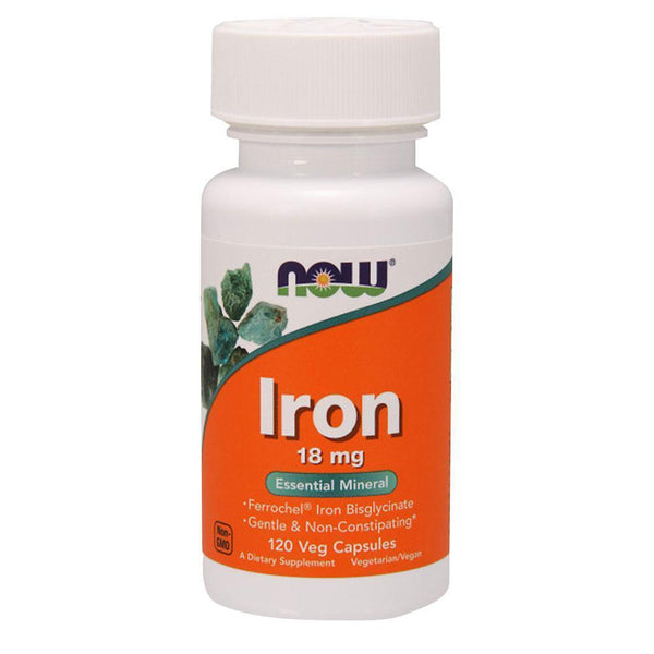 NOW Foods Iron Iron 18mg [120 Caps]