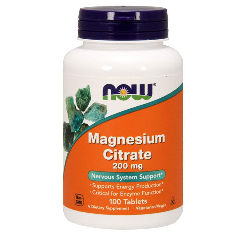 NOW Foods Magnesium Magnesium Citrate 200mg [100 Tabs]