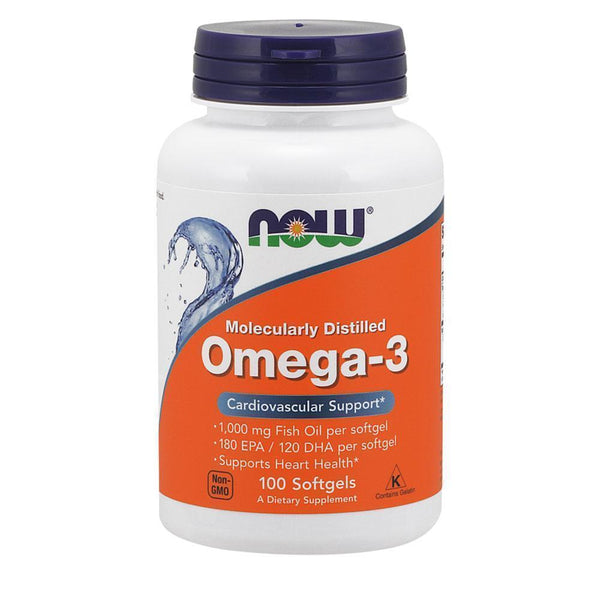 NOW Foods Omegas Omega 3 1000mg [100 Gels]