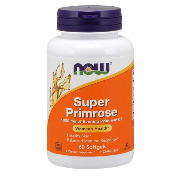 NOW Foods Omegas Super Primrose 1300mg [60 Gels]