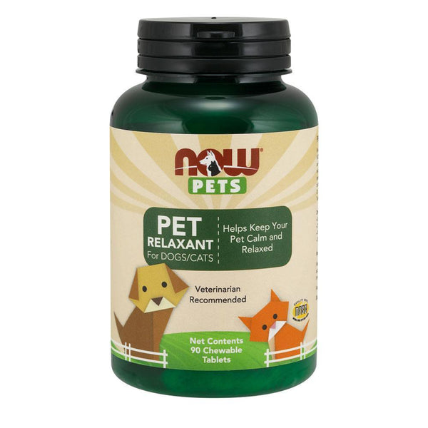 NOW Foods Pet Health Pet Relaxant For Dogs & Cats [90 Chews]
