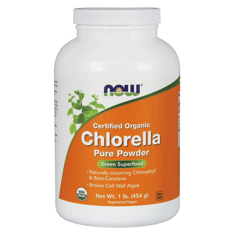 NOW Foods Superfood Unflavoured NOW Foods Chlorella Powder Organic [454g]