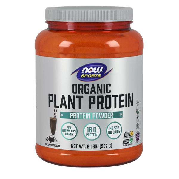 NOW Foods Vegan Protein Chocolate Organic Plant Protein [907g]