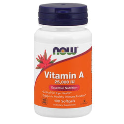 NOW Foods Vitamin A Vitamin A 25000 IU [100 Gels]