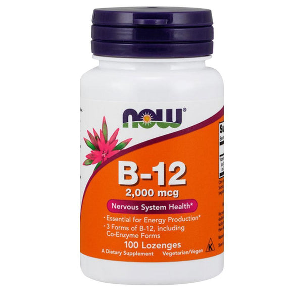NOW Foods Vitamin B B-12 2000mcg [100 Lozenges]