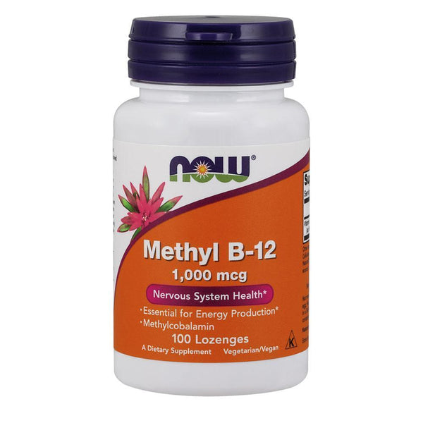 NOW Foods Vitamin B Methyl B-12 1000mcg [100 Lozenges]