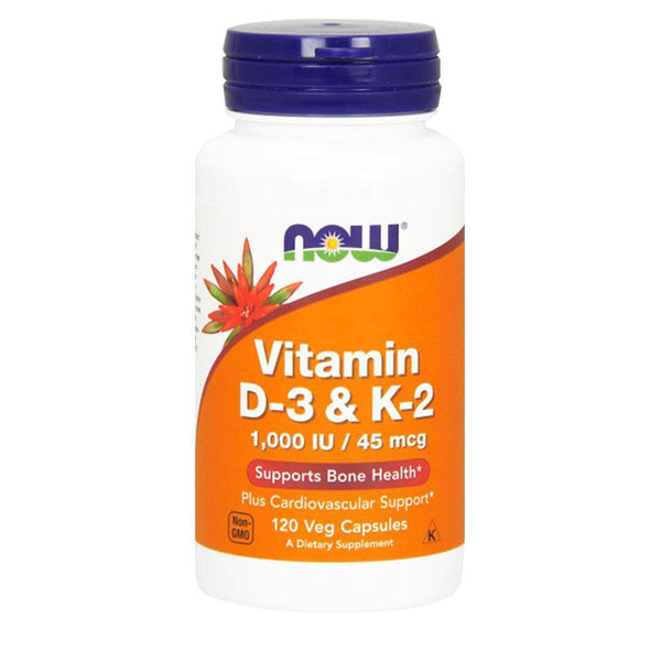 NOW Foods Vitamin D Vitamin D3 1000iu / K2 45mcg [120 Caps]