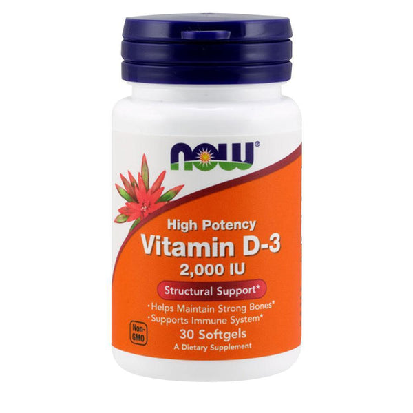 NOW Foods Vitamin D Vitamin D3 2000iu [30 Gels]