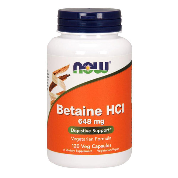 NOW Foods Vitamins & Minerals Betaine HCL 648mg [120 Caps]