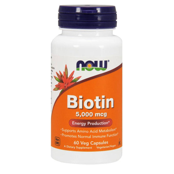 NOW Foods Vitamins & Minerals Biotin 5000mcg [60 Caps]