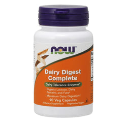 NOW Foods Vitamins & Minerals Dairy Digest Complete [90 Caps]