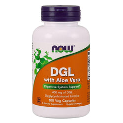 NOW Foods Vitamins & Minerals NOW Foods DGL With Aloe Vera 400mg [100 Caps]