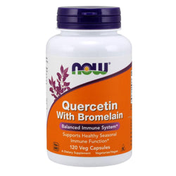 NOW Foods Vitamins & Minerals Quercetin With Bromelain [120 Caps]