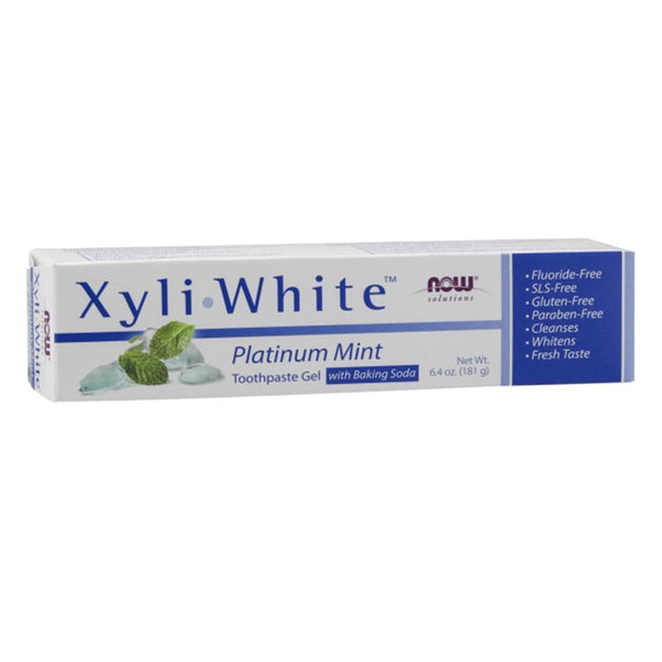 NOW Solutions Toothpaste Mint XyliWhite Toothpaste Platinum Mint [181g]