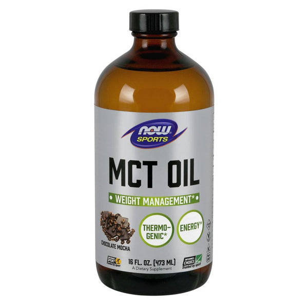 NOW Sports Essential Fatty Acids Chocolate Mocha MCT Oil Chocolate Mocha [470ml]