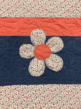 Load image into Gallery viewer, Flower Pop Appliqué Flower Baby Quilt