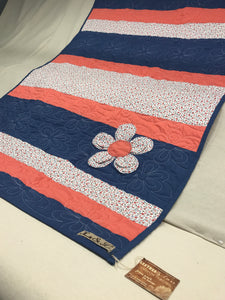 Flower Pop Appliqué Flower Baby Quilt