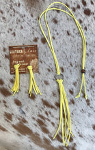 Load image into Gallery viewer, Leather Tilley Tassels Earrings & Matching Necklace