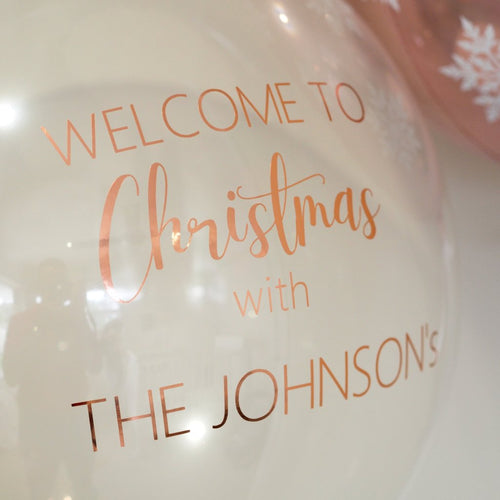 Personalised snow globe bubble balloon