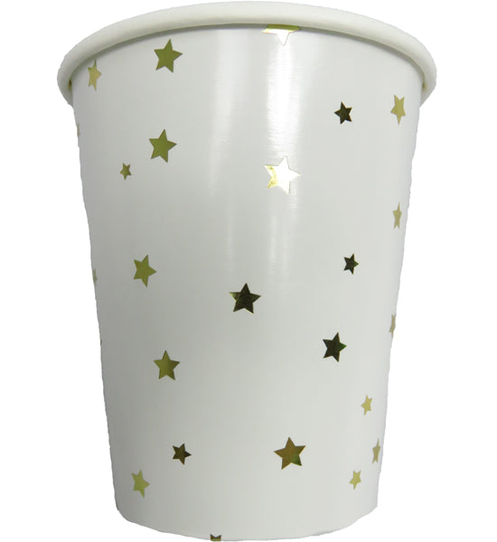 Gold Foil Star Paper Cups
