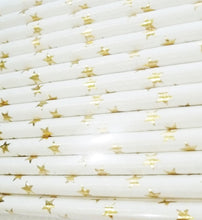 Gold Foil Star Paper Straws