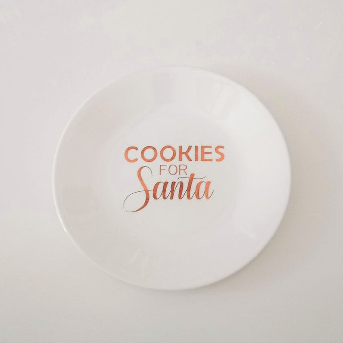 Cookies for Santa plate decal