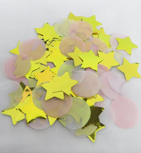 Pink and Star Gold Foil Confetti