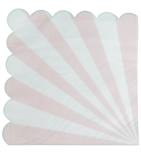 Pink and White Scalloped Napkin Set
