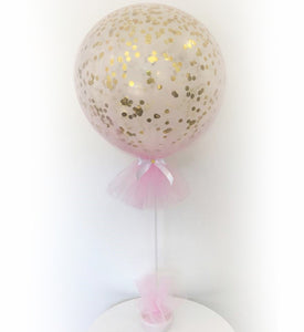Pink Tulle Confetti Filled Balloons