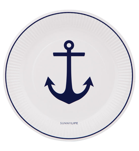 Sail Away Anchor Paper Plates