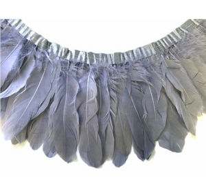 grey feather garland