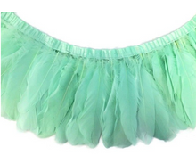 light green feather garland