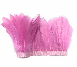 pink feather garland