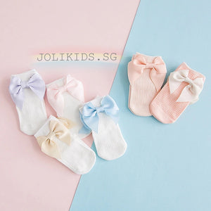 Sweet Big Bow Cotton Socks