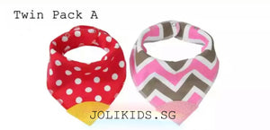 Twin Pack Baby Bib with Teether (12 Designs)
