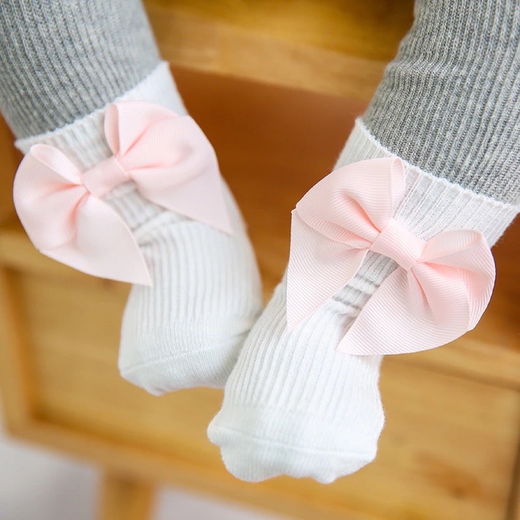 Cotton Newborn Anti-Slip with Bow
