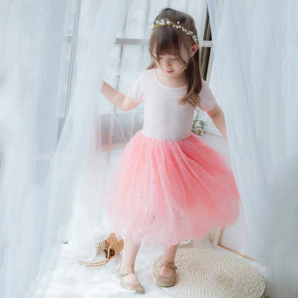 Tulle Little Star Party Dress w/ Sleeve