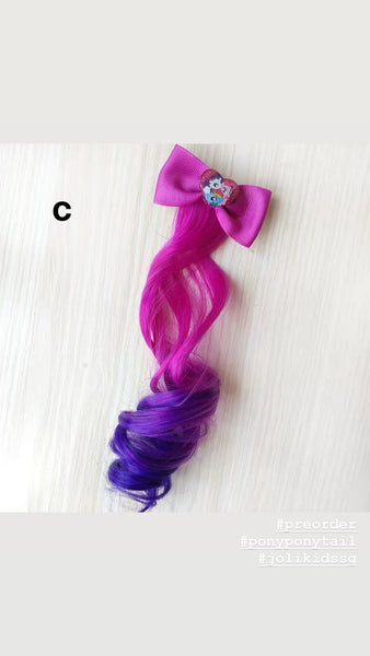 Handmade My Little Pony Hair Clip with Ponytail