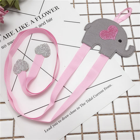 Pink Elephant & Hair Bow Organizer