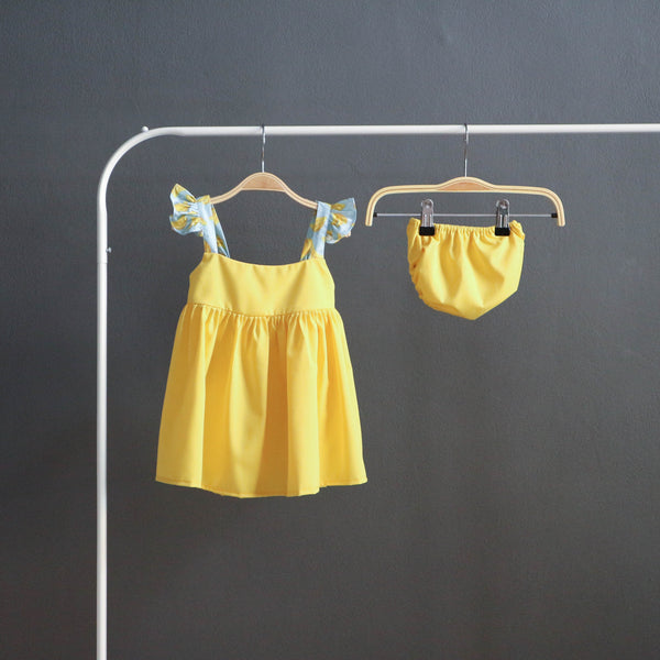 Petite Ruffle Dress (Yellow)