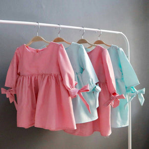 Sleeve Bow Dress