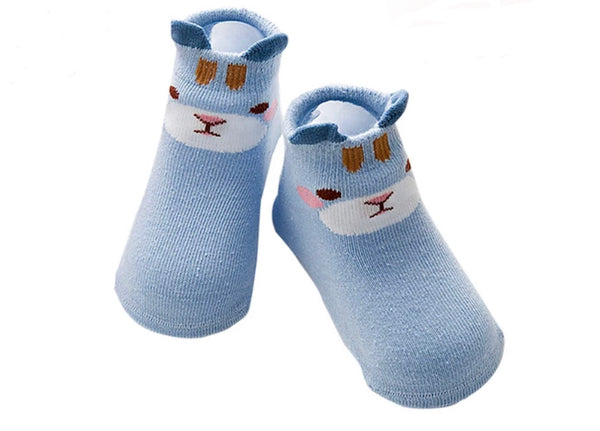 Animal cotton Non-Slip Newborns Baby Infant Socks Cotton Animal for Girls Boys 0-3T